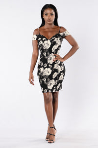 Uniquely Yours Dress - Black Angle 1