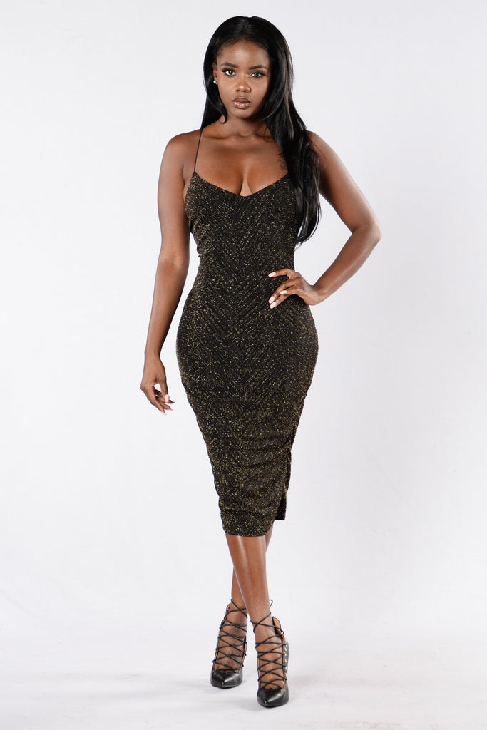 Certified Dress - Black/Gold