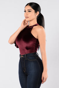 Catching Feelings Bodysuit - Wine Angle 3