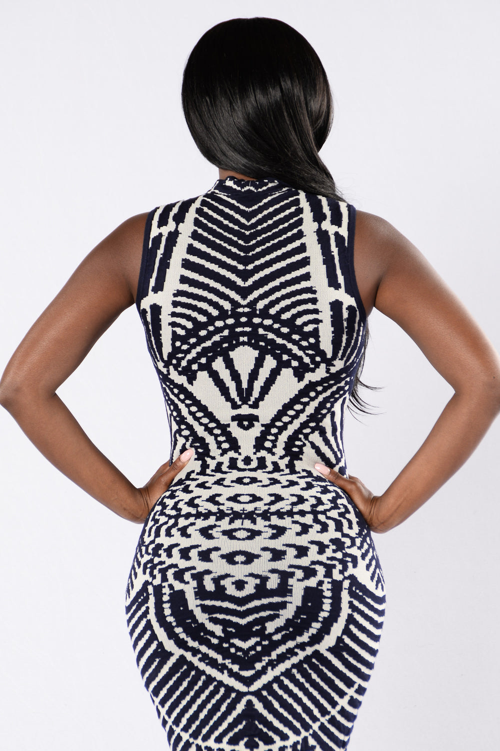 Got To Be Real Dress - Navy