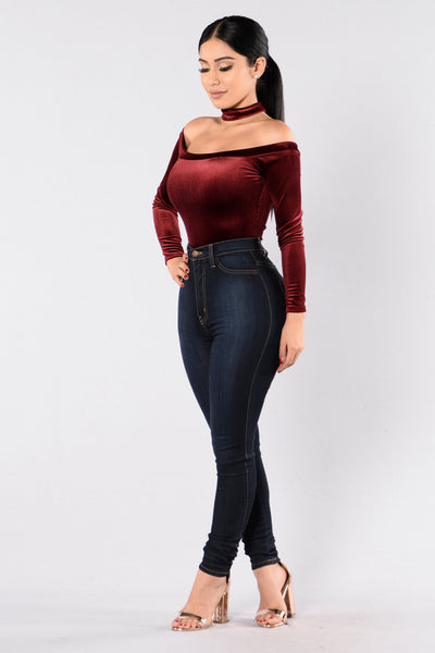 You Don't Own Me Bodysuit - Burgundy