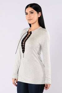 Shame Game Top - Heather Grey