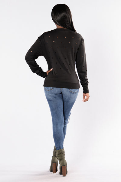 Geometrics Sweater - Black