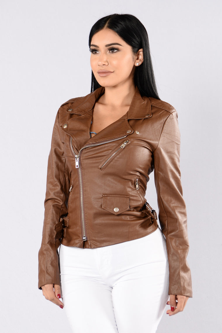 Luka Moto Jacket - Brown
