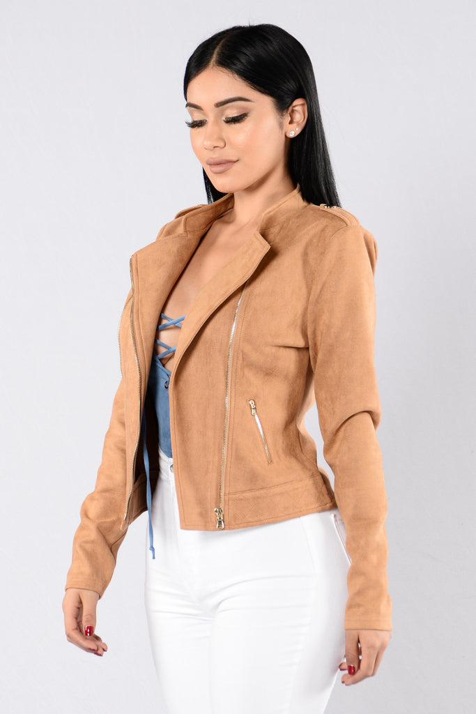 Strayed in Suede Jacket - Tan
