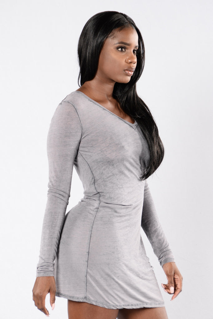 Come See Me Top - Heather Grey