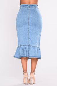 Torrey Denim Midi Skirt - Denim