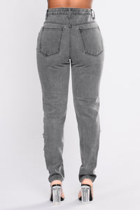 Heard It Before Boyfriend Jeans - Grey