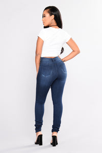 Desirae Skinny Jeans - Dark Denim