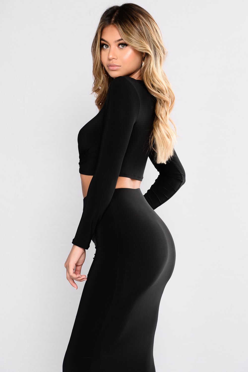 Love Lane Skirt Set - Black