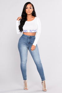 Girl Boss Graphic Top - White Angle 2