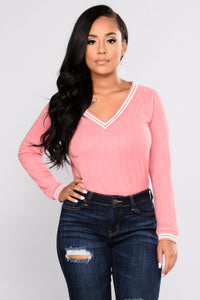 The Right Way Top - Dusty Rose