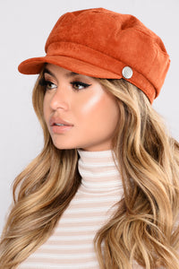 Calling All Corduroy Hat - Rust