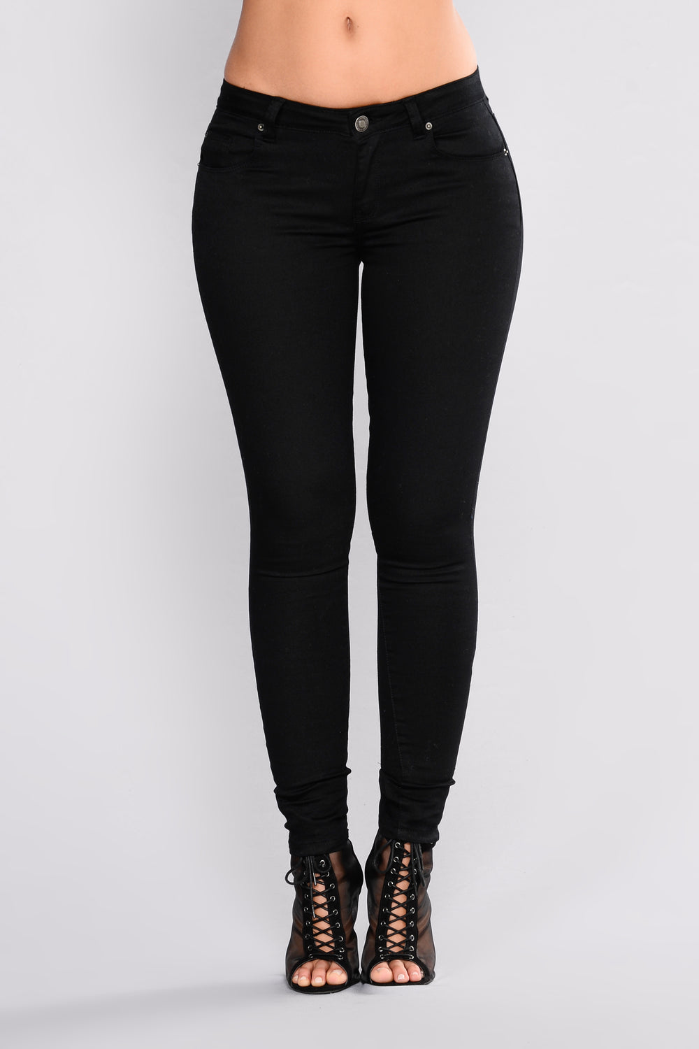 Heartbreak Horizon Skinny Jeans - Black
