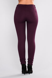 Lissi Hyperstretch Booty Lifting Pants - Plum