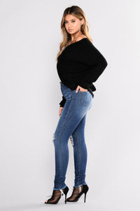 Estelle Skinny Jeans - Medium Blue Wash