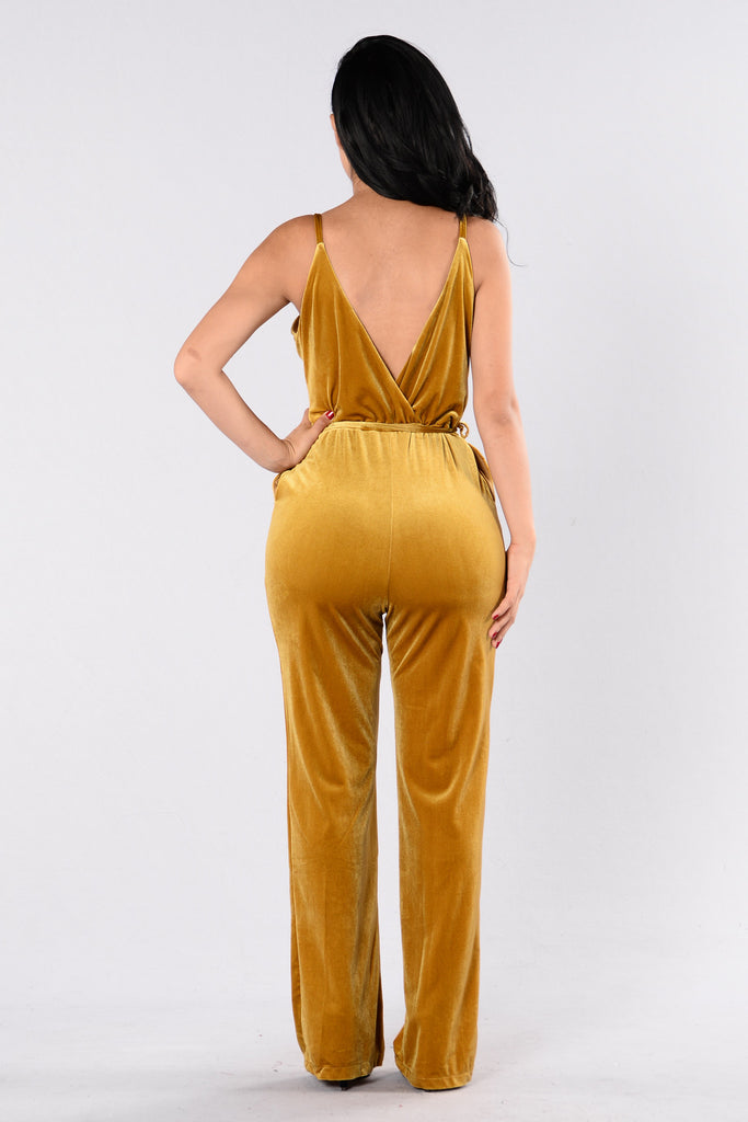 Sensuous Jumpsuit - Gold