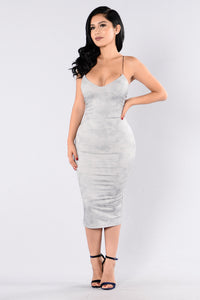 To The Point Dress - Silver Angle 1