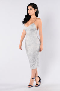 To The Point Dress - Silver Angle 2