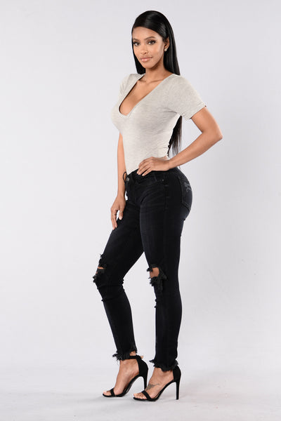 Torn Down Jeans - Black