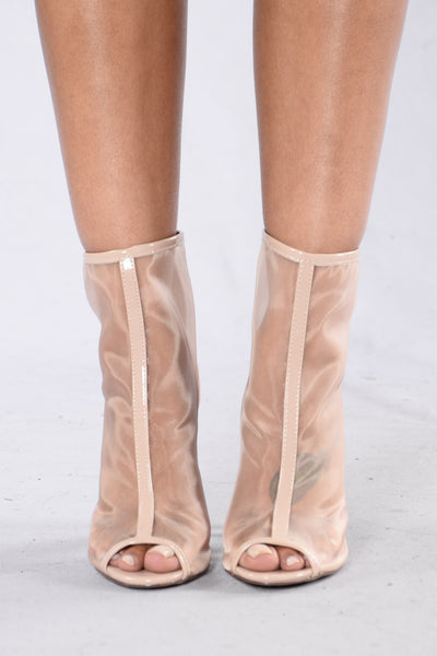 See Right Through You Boot - Nude