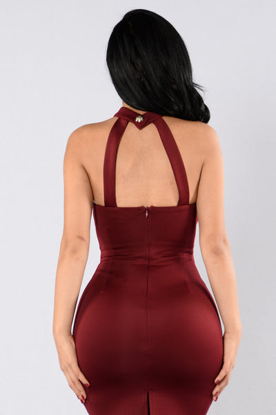 Talya Dress - Burgundy