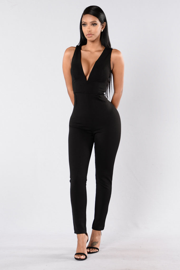 Pull Me Closer Jumpsuit - Black