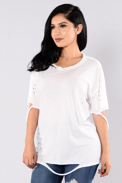 Worst Behavior Tee - White