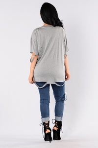 Worst Behavior Tee - Heather Grey