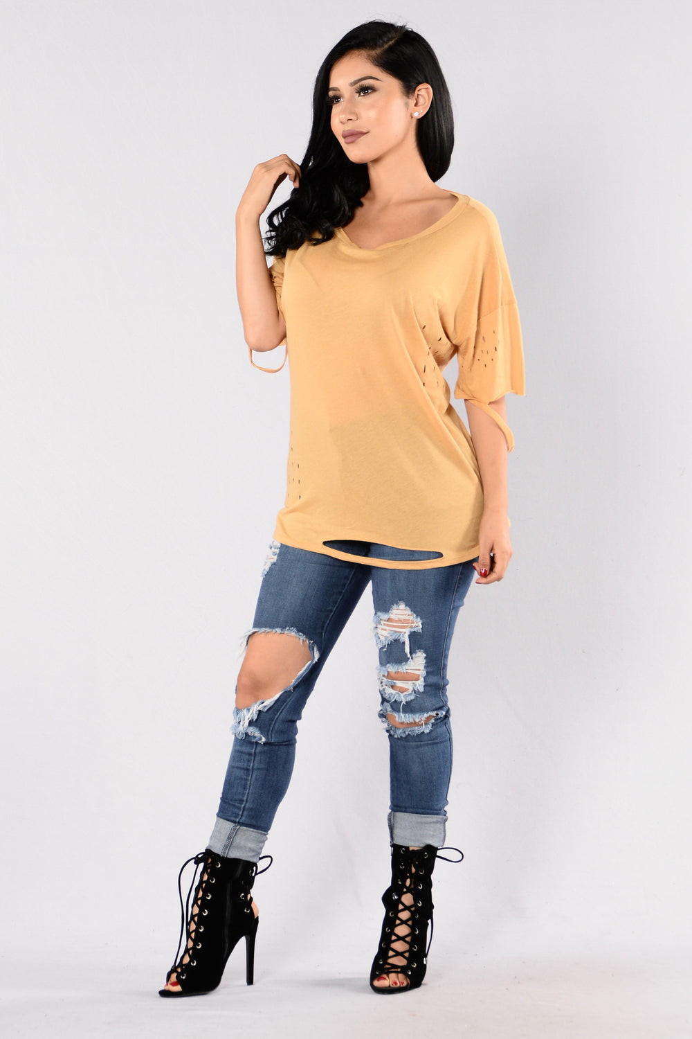 Worst Behavior Tee - Mustard