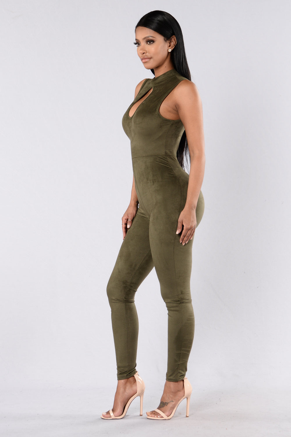 Get To It Jumpsuit - Olive