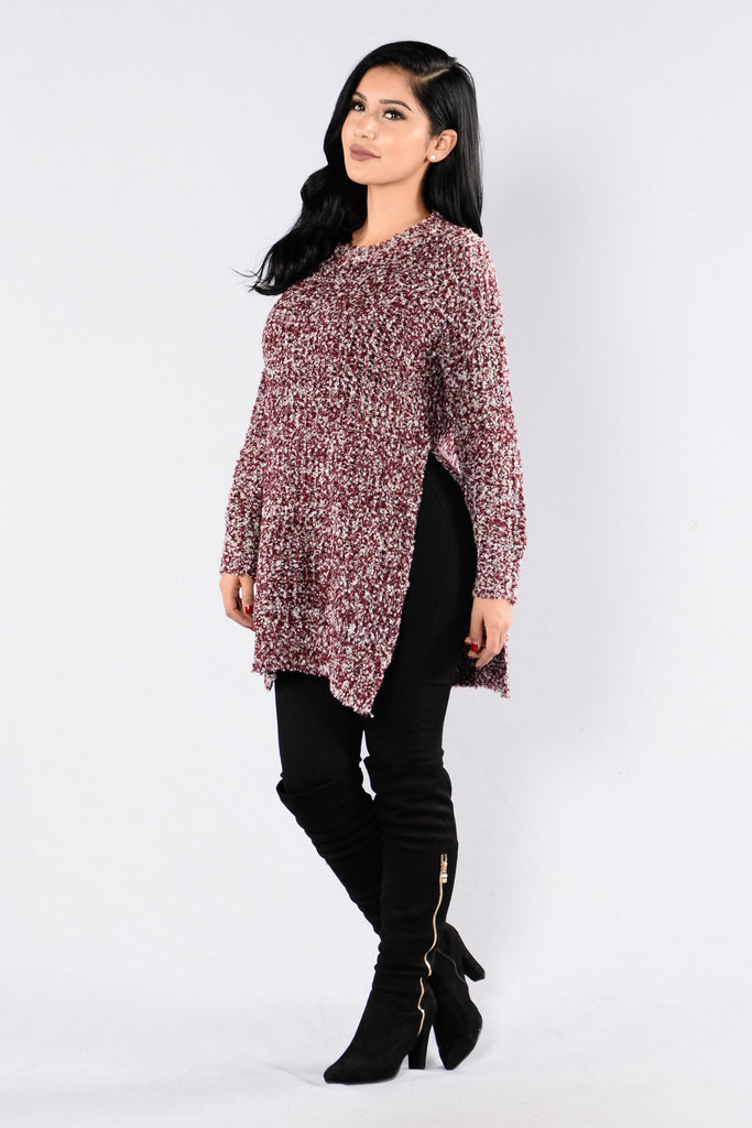 Boyfriend Sweater - Burgundy