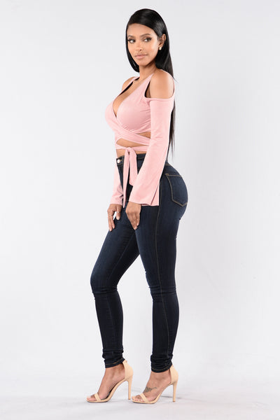Wrap Trap Top - Mauve