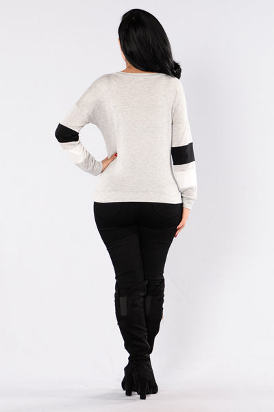 Start It Off Sweater - Heather Grey