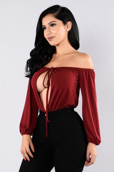 Third Rate Romance Bodysuit - Burgundy