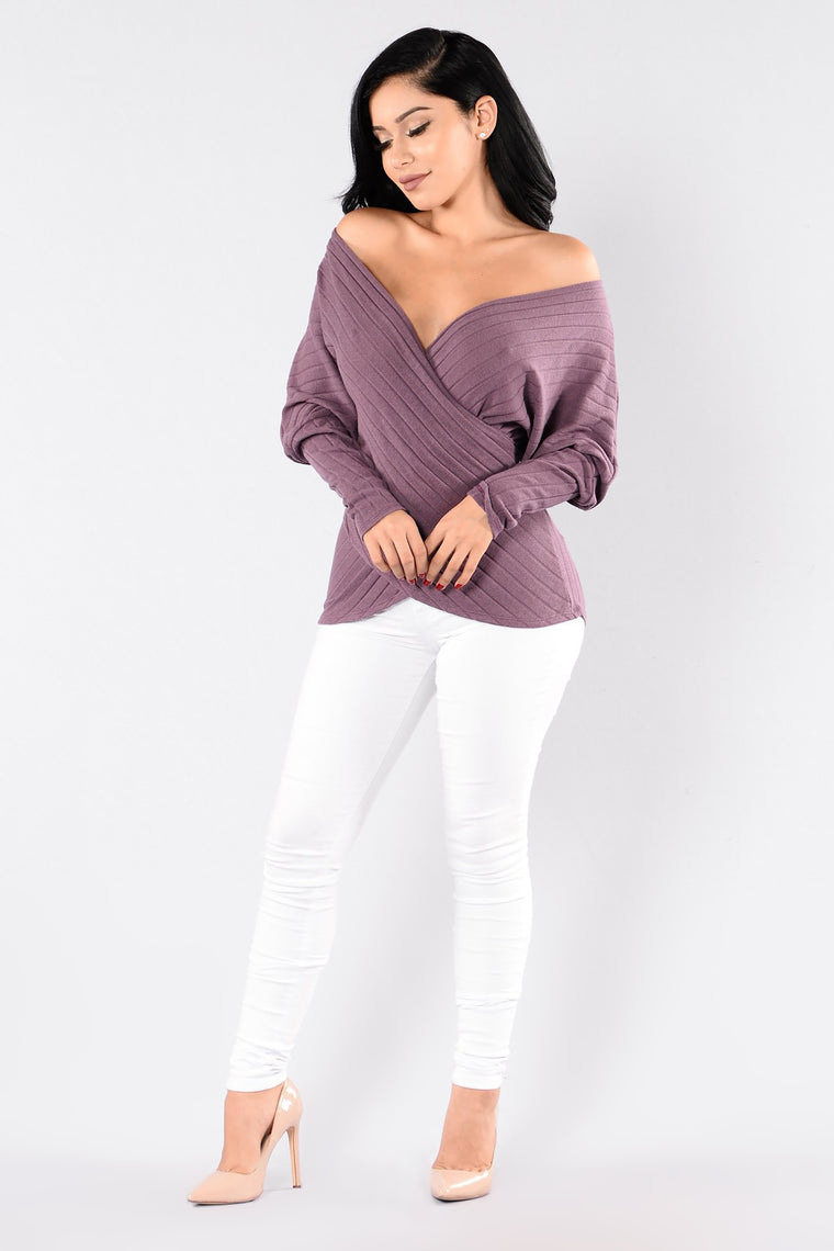Cozy Love Sweater - Red Plum