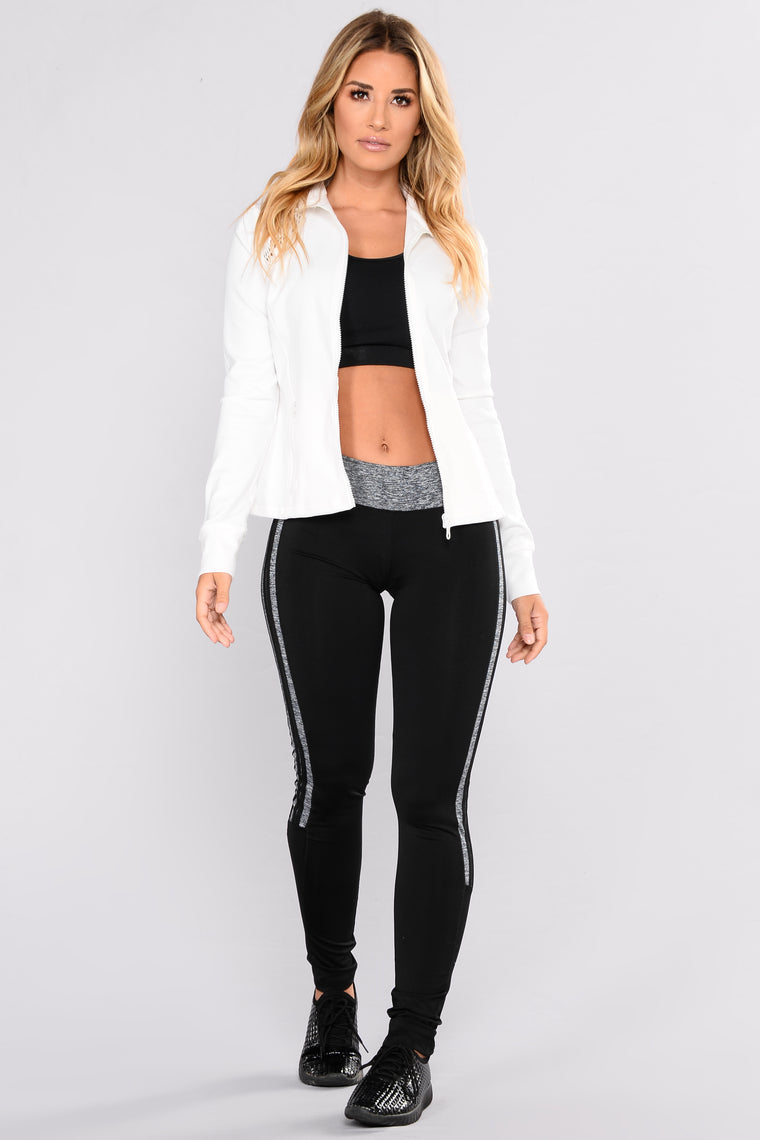 Aleesha Mesh Active Jacket - White