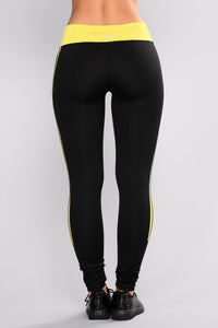 Above And Beyond Active Leggings - Yellow