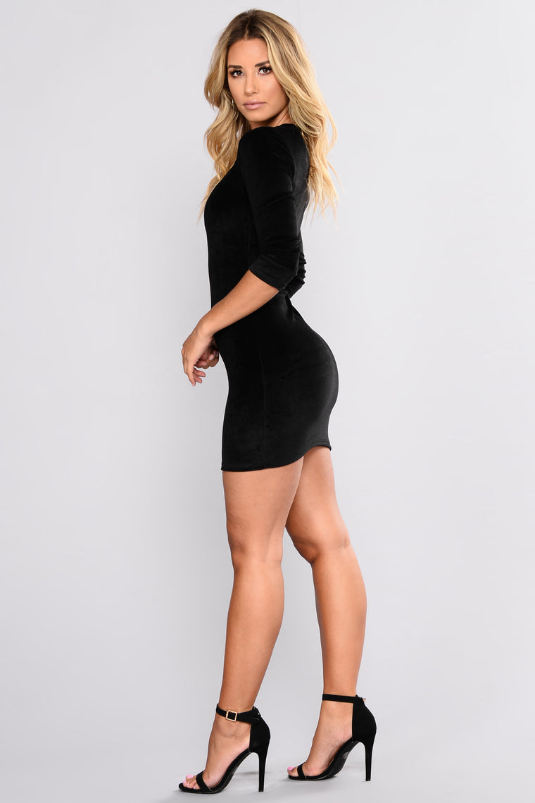 Carlene Corduroy Dress - Black