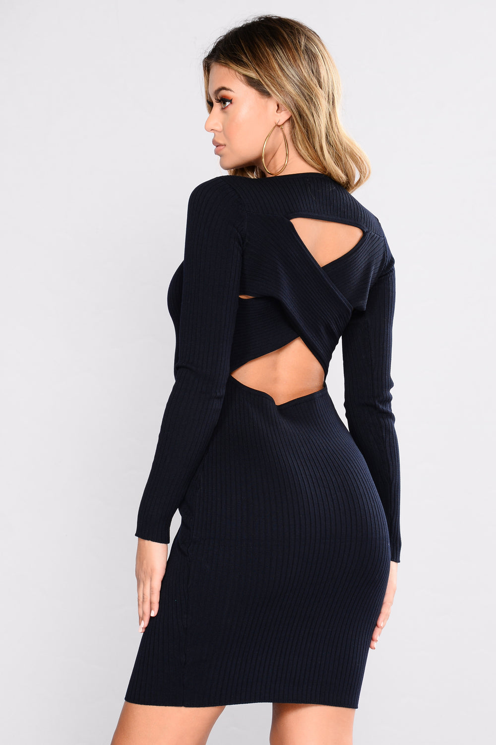 Zayla Knit Dress - Navy