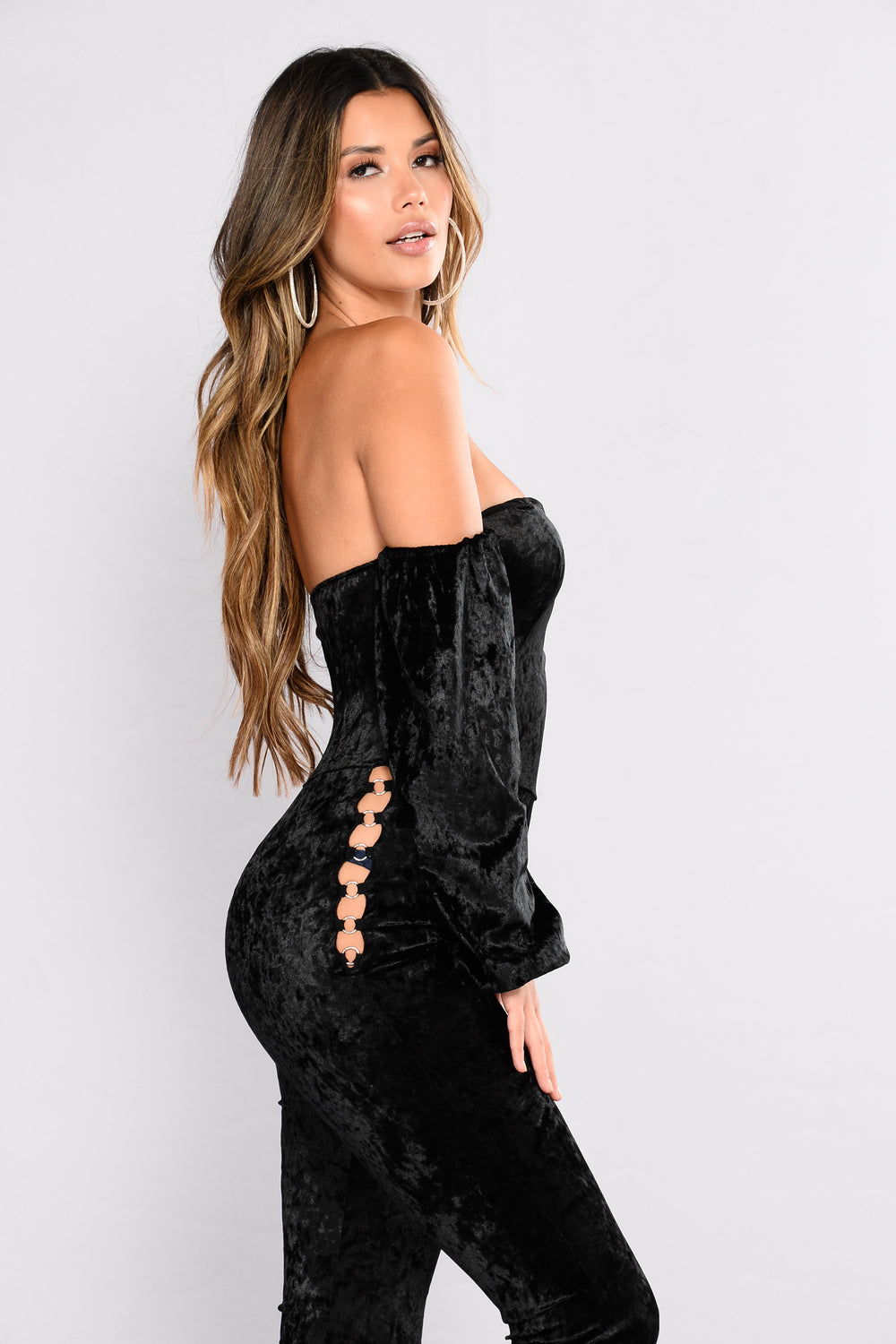 Connected At The Hip Jumpsuit - Black