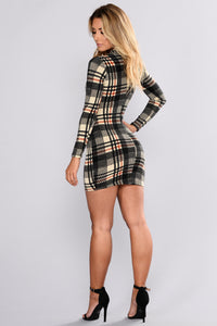 Plaid Perfect Dress - Black