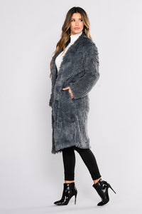 Furever Lover Faux Fur Jacket - Grey