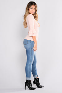 Got What You Want Ruffle Top - Rose Pink