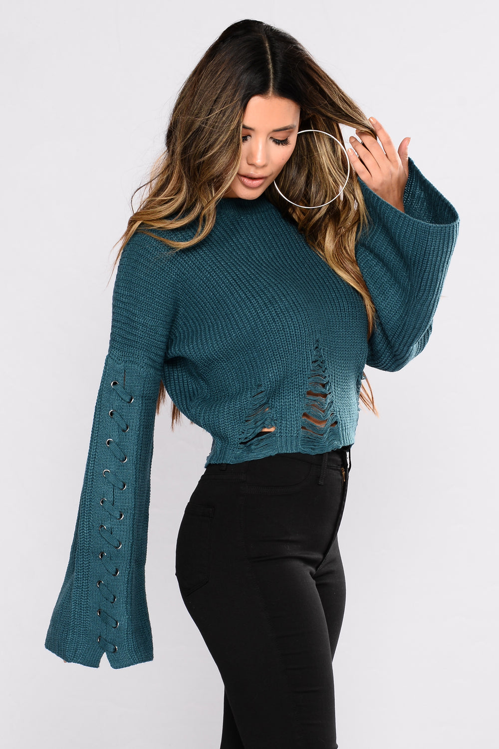 Always Somebody To Love Sweater - Teal