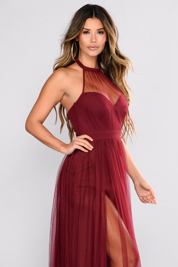 f0344703bae Off The Tulle Gown - Wine