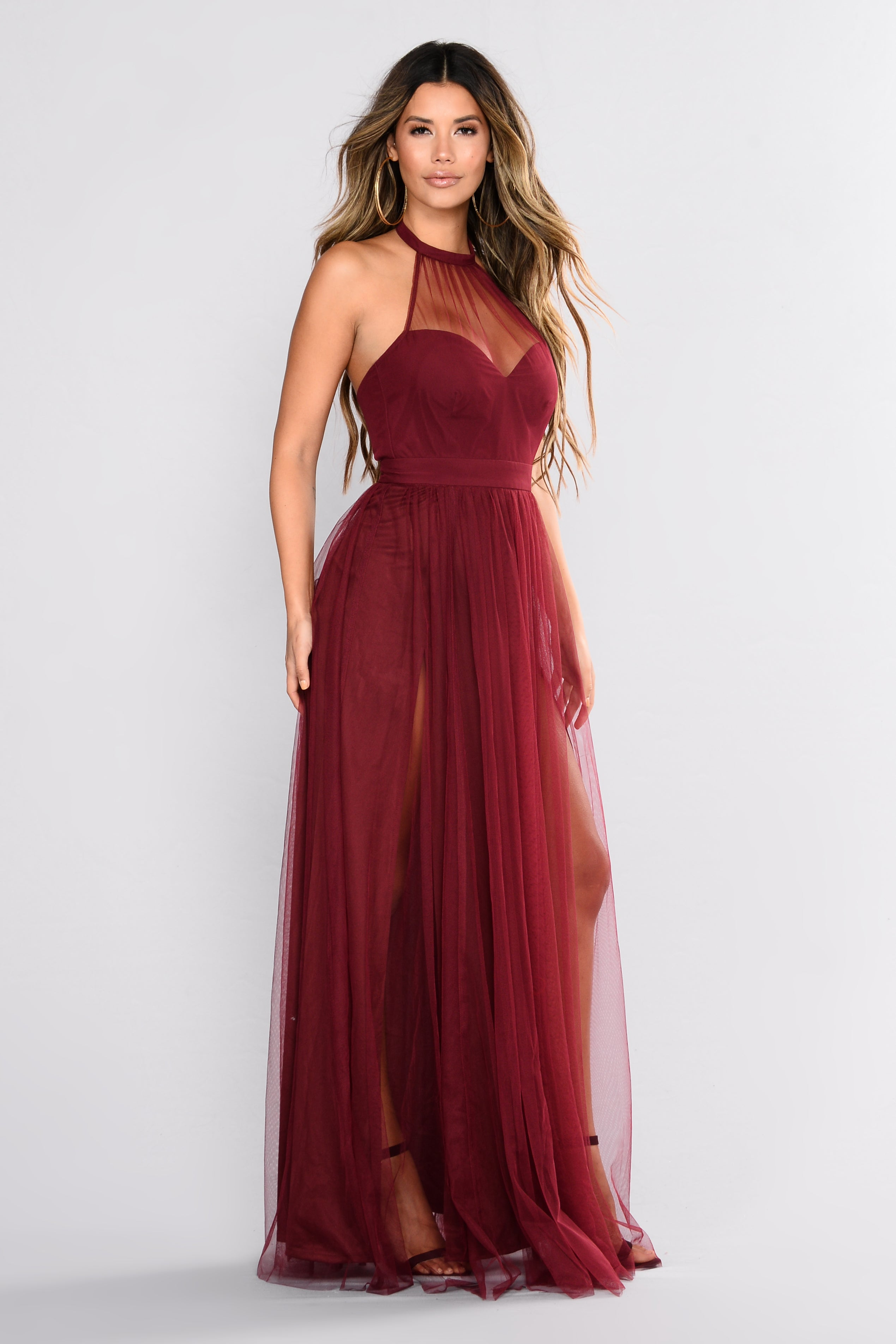 1efc01028da Off The Tulle Gown - Wine