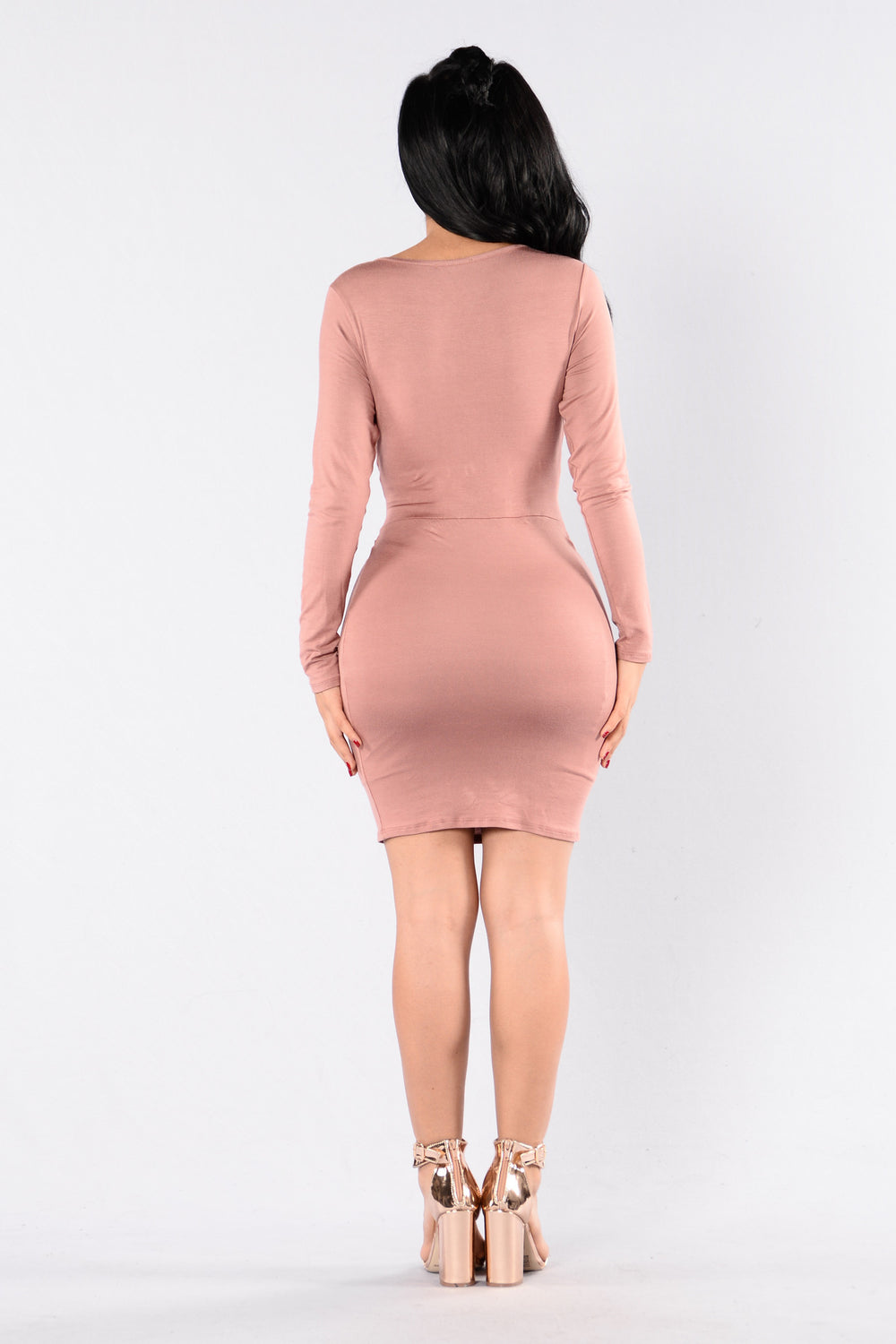 Good Vibrations Dress - Dusty Mauve