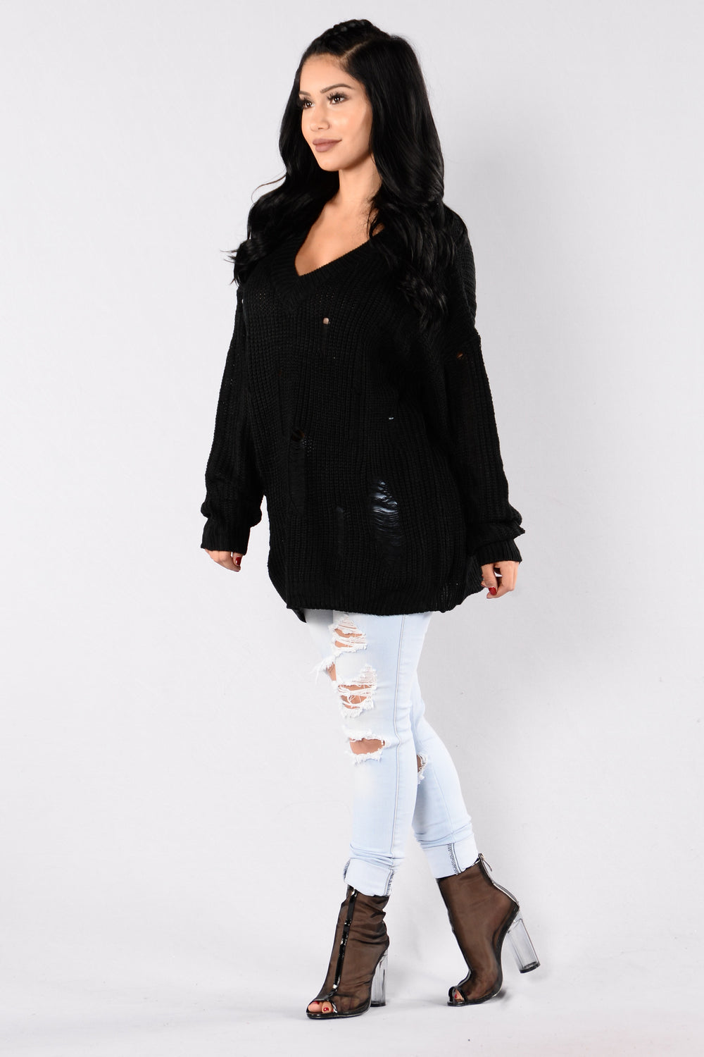 Edge Of Heaven Sweater - Black