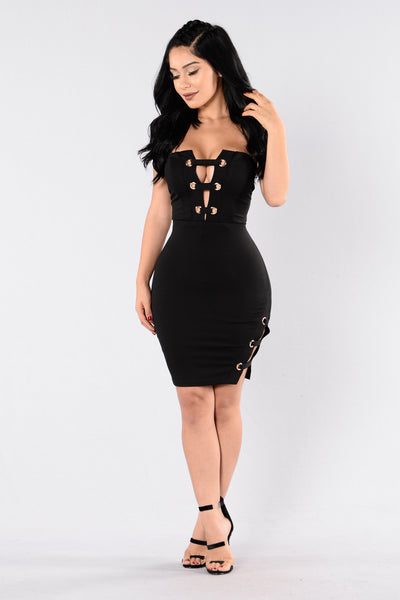 I Will Survive Dress - Black